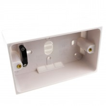 Surface Mount Back Box Pattress Box 2 Gang 47mm with Cable Holder