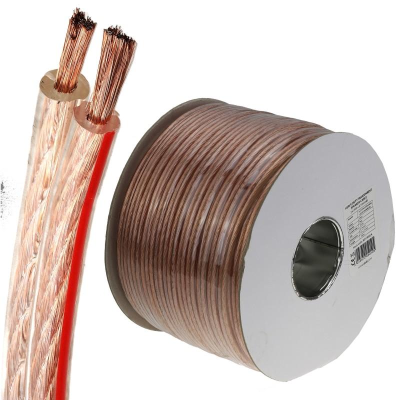 Heavy Duty 329 Strand Copper Speaker Cable 25A Long Reel 100m