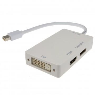 Mini DisplayPort to DVI-D HDMI or Display Port 4kx2k Video Adapter