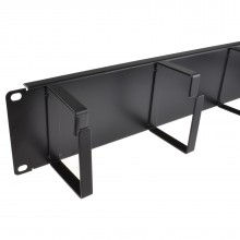 Ringed Cable Management Bar 2U With 4 Rings Data Cabinet 19...