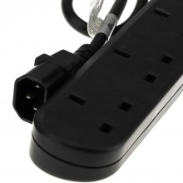 IEC C14 to 6 Way Gang UK Mains Sockets Lead UPS Power Splitter...