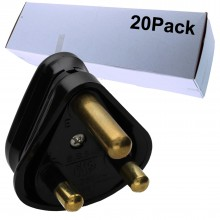 3 ROUND PIN Power Plug for Industrial 15A Sockets Unfused...
