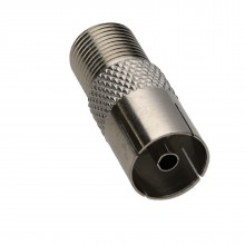 F Type Connector Socket to RF Coax Aerial Female Adapter