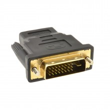 DVI-D 24+1 Male to HDMI Socket Adapter Converter Joiner GOLD