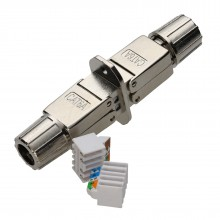 Cat6A Panel Mount FTP Inline Punch Down Coupler Joiner...