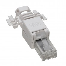 IDC Punch Down to RJ45 Plug for Solid Network Ethernet Cable Cat6a