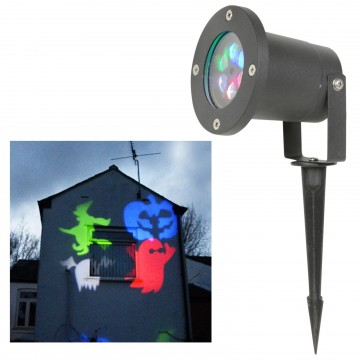 Halloween Spooky Effects Weatherproof IP44 Garden Projector Light 5m