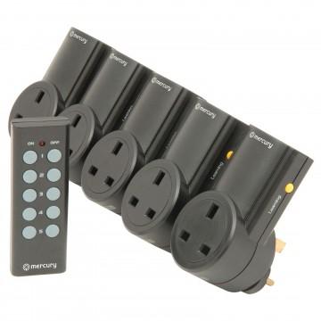 Remote Control Mains Socket Energy Saving Mains Power Adapter Set of 5