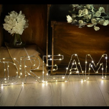 Warm White DREAM Indoor Decoration Battery Powered LED Light...