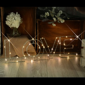 Warm White LOVE Indoor Decoration Battery Powered LED Light Small