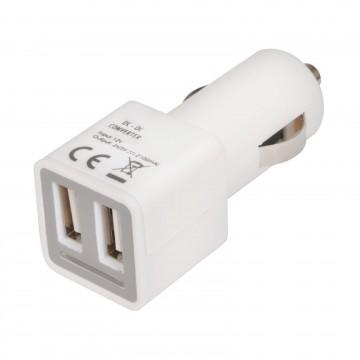 In-Car Dual / Twin Port USB Car Charger 2 x 2100mA USB Sockets...