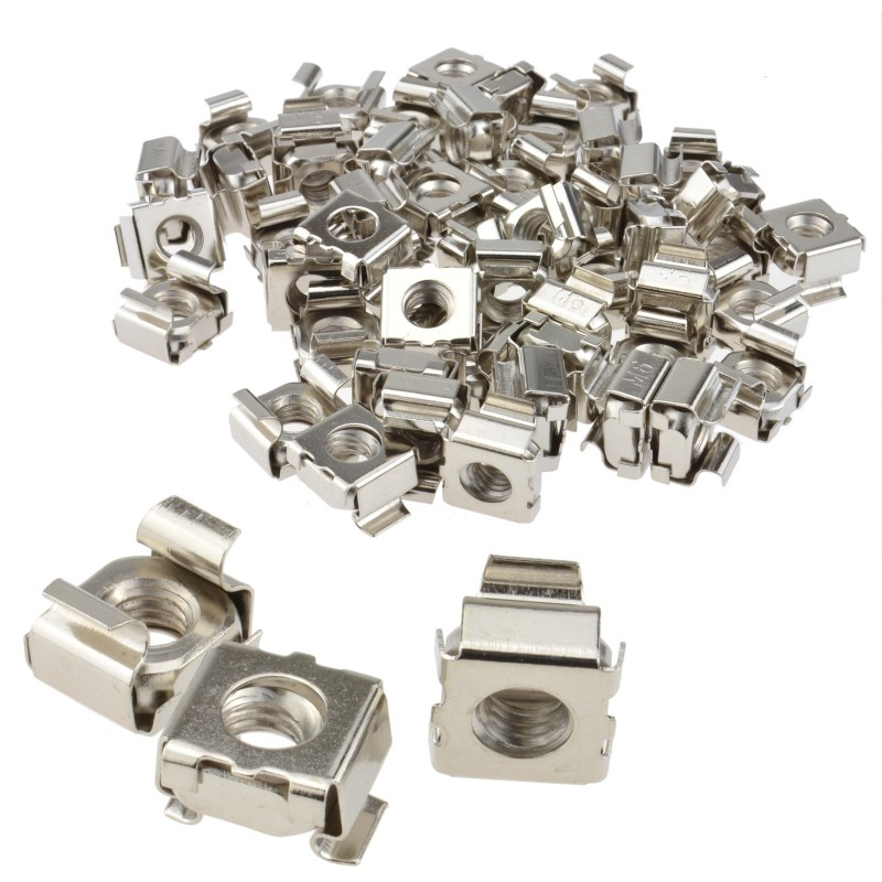M6 Cage Nut 6mm Socket Replacement Rack Cage Nut Mount Pack of 50