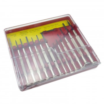 14 Piece Precision Screwdriver Tool Set In Hinged Plastic Case