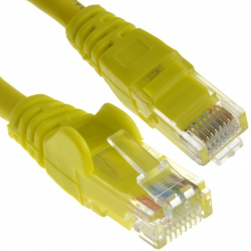 C6 CAT6-CCA UTP RJ45 Ethernet LSZH Networking Cable Yellow 10m