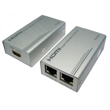 HDMI Extender over Ethernet RJ45 Cable HiRes upto 50m @ 1080p