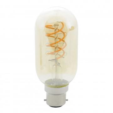 Vintage Spiral LED Filament Lamp 5W T45 B22 Warm Amber Bulb...