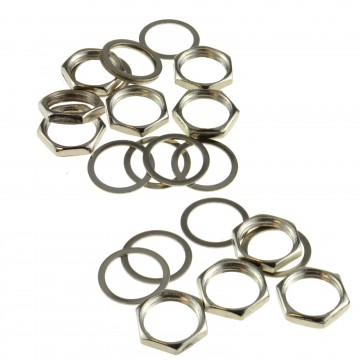 Replacement M9 Nuts & Washers for panel Mount/Guitar Jacks 9mm