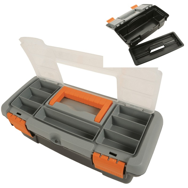 Kenable Toolbox With Removable Tray And Storage