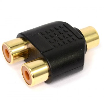 RCA Phono Twin Sockets to Single RCA Phono Socket Splitter...