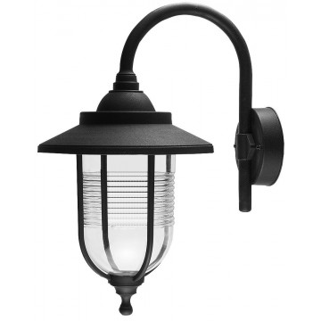 Wall-Mounted Outdoor IP44 Lantern Style Garden Lamp E27 Light Black