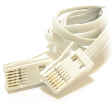 BT 6 Wire 631A Plug to 6 Wire Male Plug Telephone Cable 10m