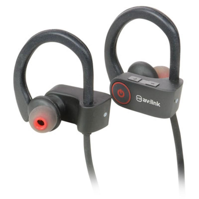 Waterproof Wireless Bluetooth Activity Gym Over Earphones & Mic Black