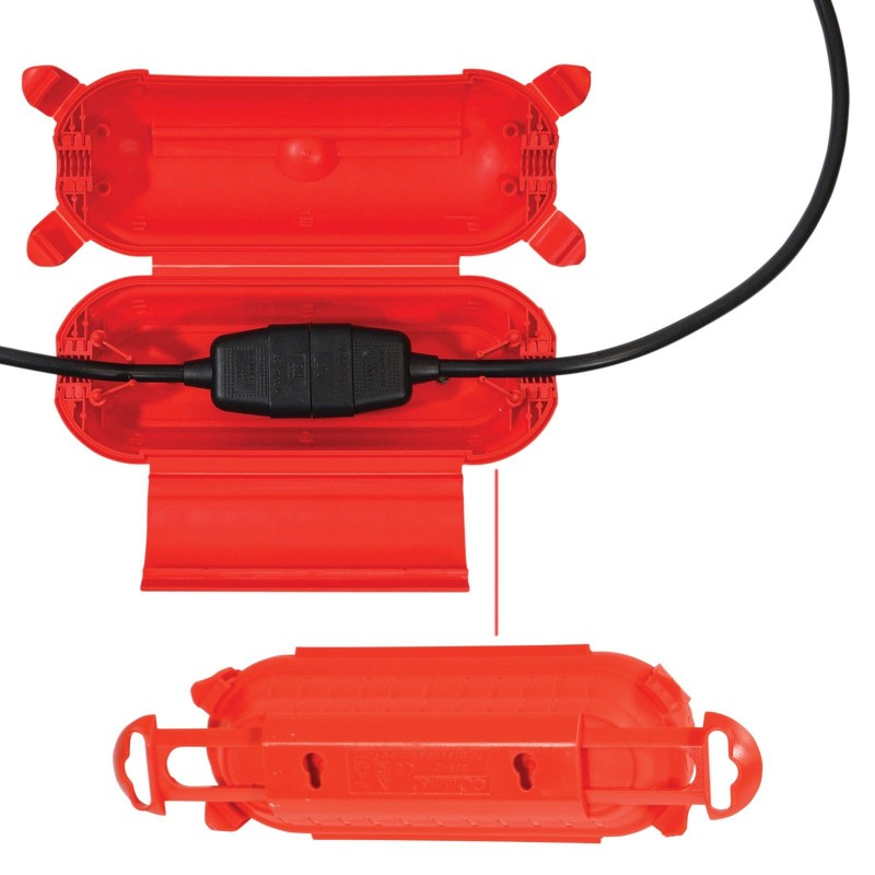 Outdoor IP44 Waterproof Wall / Ceiling Mount Box for 6.5-9mm Cables