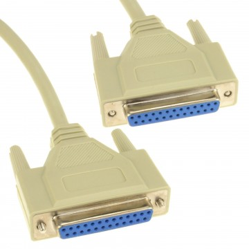 25 Pin Female Parallel Printer Lead 25 Pin Female Cable F to F...