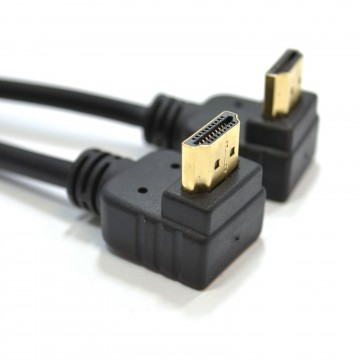 HDMI 1.4 High Speed 3D TV 90 Right Angle to Right Angle Plug...