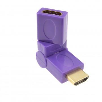 HDMI 360 Degree Bend Multi Angle Rotating Socket to Plug Adapter