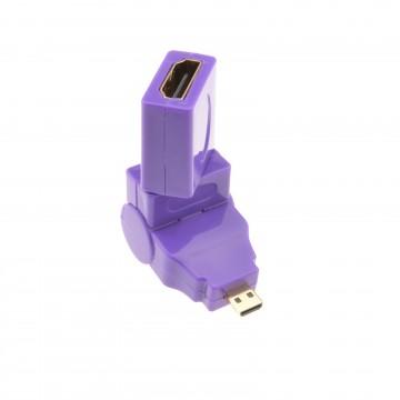 HDMI Socket to MICRO Plug 360 Degree Multi Angle Rotating Adapter
