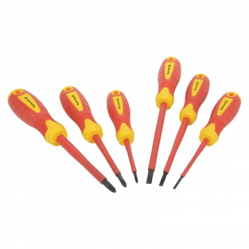 VDE Approved Fully Insulated Electricians 6 Piece Screwdriver Set