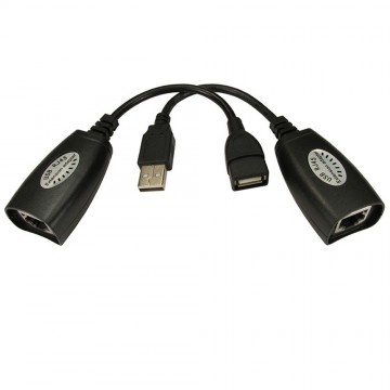 USB Over RJ45 Long Distance Extender Booster Cable Ethernet...