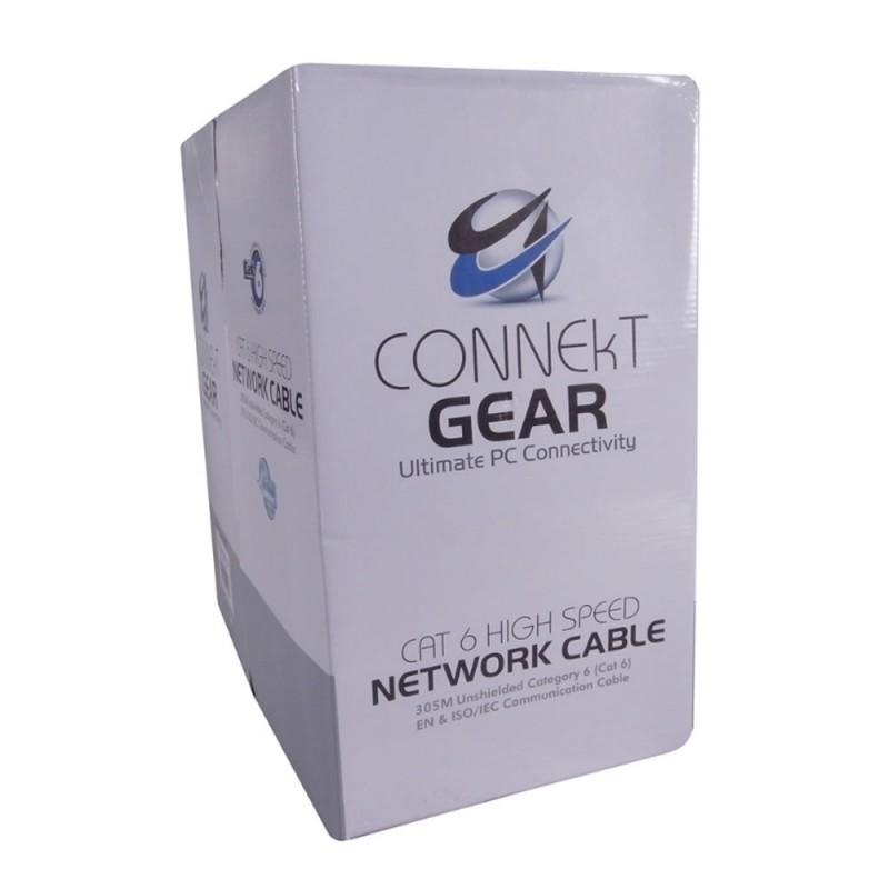 Cat6 CCA Stranded 24AWG UTP Network UTP Ethernet Cable Reel LSOH 305m