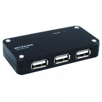 Newlink USB 2.0 4 Port Mini Hub with UK PSU & Over Current...