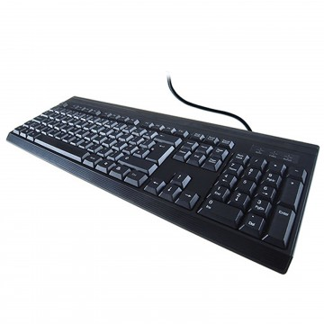 KB232 Spill Resistant & Anti-Bacterial QWERTY USB Keyboard