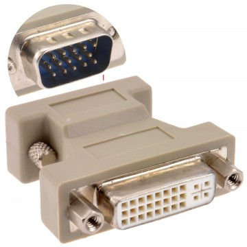 DVI Adapter DVI-A Female Socket to Male VGA 15 Pin Plug Converter