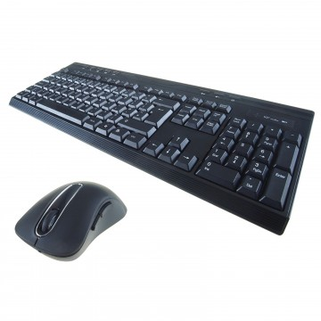 Wireless Splash Proof Keyboard with 8 Hot Keys & 5 Button...