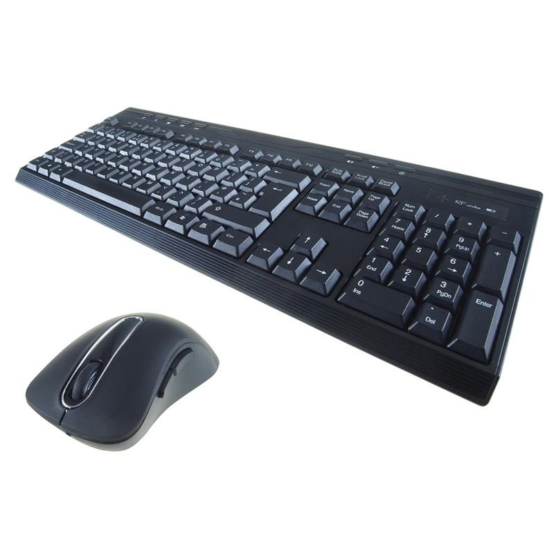Computer Gear Wireless Splash Proof Keyboard with 8 Hot Keys & 5 Bu