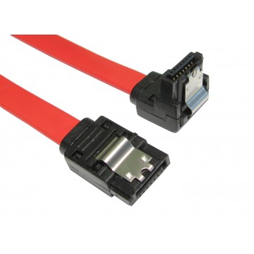 LOCKING Right Angle SATA Plug To Straight SATA Plug Cable Lead...