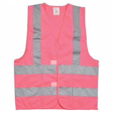 High Visibility Reflective Warehouse Safety Waistcoat in Pink Small