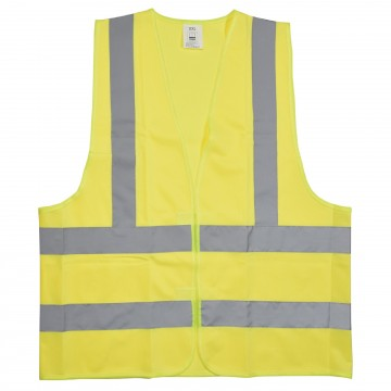 High Visibility Reflective Warehouse Safety Waistcoat in Yellow XXL