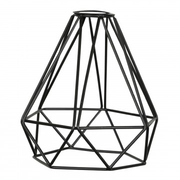 Decorative Vintage DIAMOND Lamp Cage Shade Black for Light...
