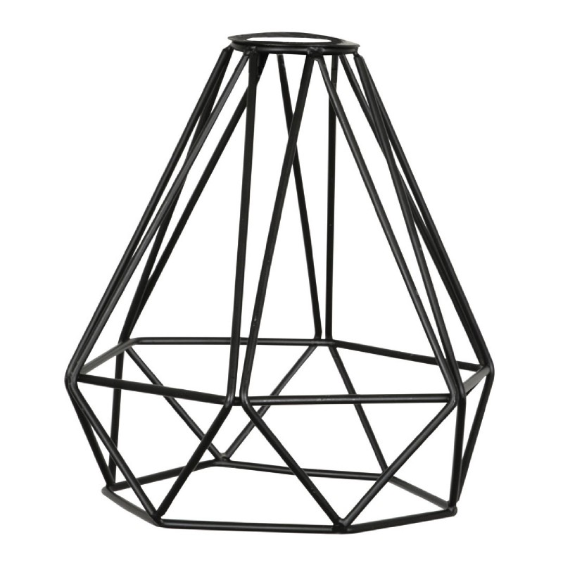 Decorative Vintage DIAMOND Lamp Cage Shade Black for Light Pendant