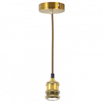 Single E27 Antique Gold Rose Vintage Lighting Pendant 1.8m Cable