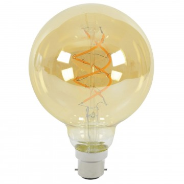 G95 Spiral LED Filament Vintage Warm Light Bulb B22 5W (50W...