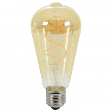 ST64 Edison Style LED Spiral Filament Decor Light Bulb 5W E27...