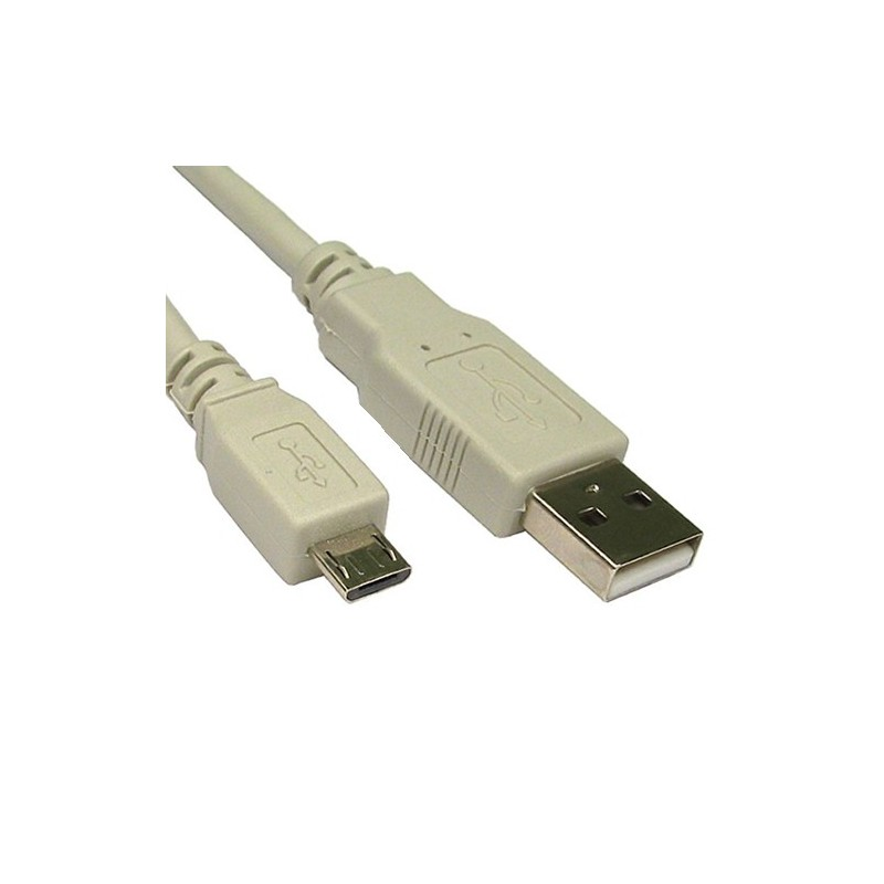 USB 2.0 A To MICRO B Data and Charging Cable 1.8m Lead BEIGE