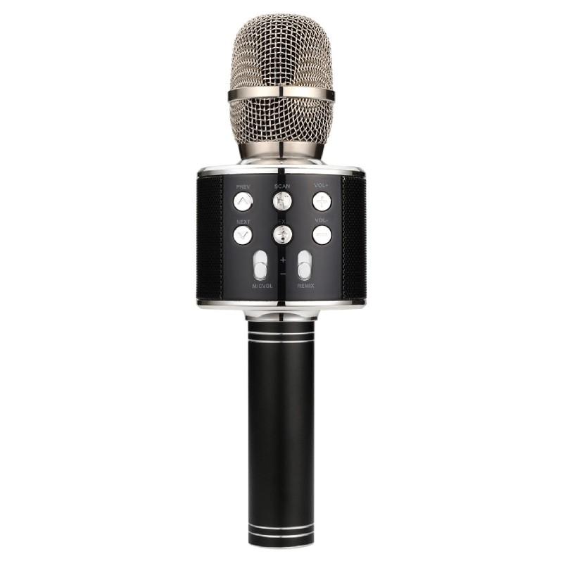 Karaoke Party Bluetooth Microphone MicroSD FM Tuner & Speaker Black