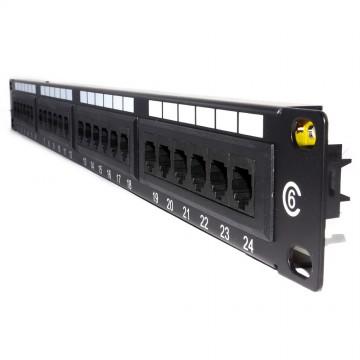 Cat6 Gigabit 19 Inch Rack Mountable Patch Panel 24 Port 1U [UL]